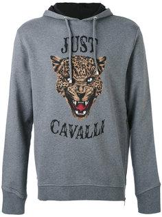 толстовка с капюшоном и принтом тигра Just Cavalli