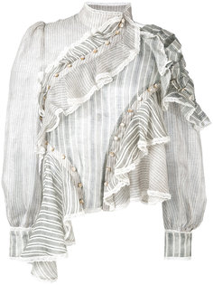блузка с асимметричными оборками Zimmermann