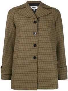 тканая куртка в клетку Mm6 Maison Margiela