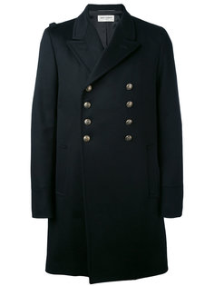 пальто в стиле милитари Saint Laurent