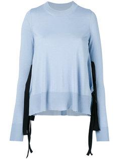 свитер с кружевными вставками Mm6 Maison Margiela