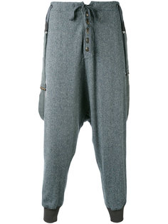 брюки с заниженной проймой Greg Lauren