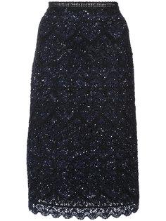 юбка с вышивкой Oscar de la Renta