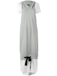 многослойное платье с капюшоном Twin-Set