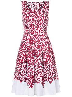 платье с цветочным принтом Oscar de la Renta