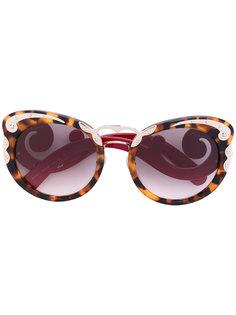 солнцезащитные очки с узором черепашьего панциря Prada Eyewear