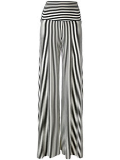 брюки-палаццо в полоску Norma Kamali