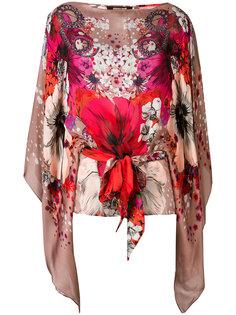 блузка с принтом Garden of Eden Roberto Cavalli