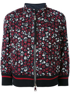куртка-бомбер Fiadone с цветочным узором и вышивкой Moncler