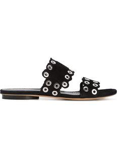 сандалии с заклепками Derek Lam