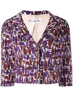 cropped printed jacket Christian Dior Vintage