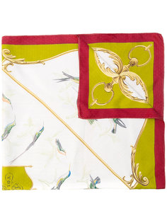 bird print scarf Hermès Vintage