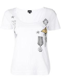 футболка с вышивкой Just Cavalli