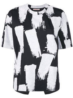 футболка с эффектом мазков кисти Marni