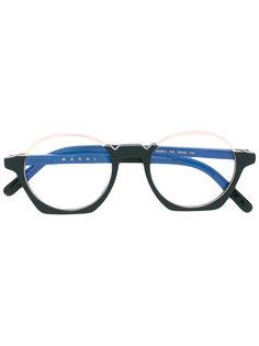 круглые очки из ацетата Marni Crop Marni