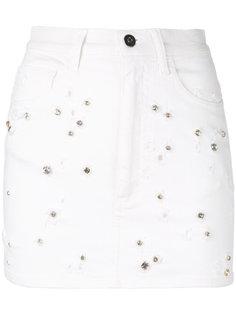 джинсовая юбка с потертой отделкой Faith Connexion