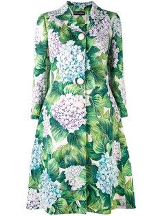 пальто с цветочным узором Dolce & Gabbana