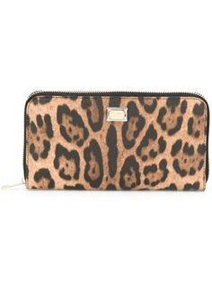 леопардовый кошелек Dauphine Dolce & Gabbana