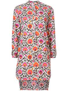 платье-рубашка с цветочным принтом La Double J
