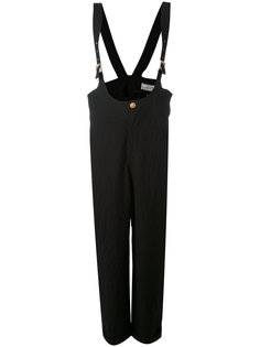 buckle strap dungarees Versace Vintage
