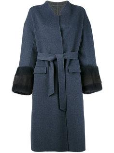 пальто с поясом Liska