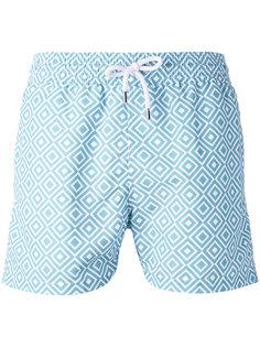 шорты для плавания с геометрическим принтом Frescobol Carioca