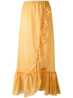 длинная юбка с оборкой Lemlem