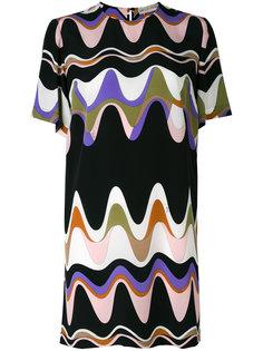 платье-шифт с треугольным принтом Emilio Pucci