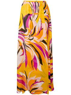 юбка-макси с принтом Emilio Pucci