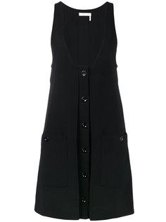 платье с глубоким вырезом Chloé