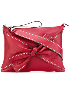 сумка через плечо с бантом и заклепками Red Valentino