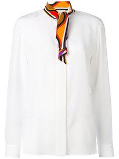 рубашка с принтом и горловиной-шарфом Emilio Pucci