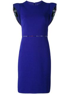 платье с укороченными рукавами-кап с оборками Emilio Pucci