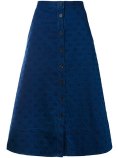 star embroidered denim skirt Chinti And Parker