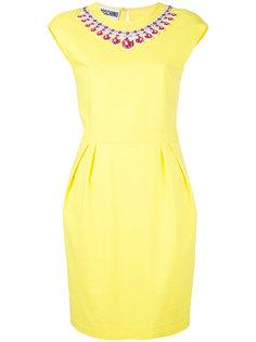 платье с принтом-обманкой в виде ожерелья Moschino