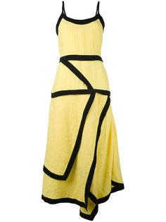 расклешенное платье с контрастной окантовкой J.W.Anderson