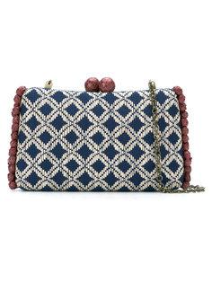 geometric pattern clutch Serpui