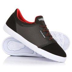 Кеды кроссовки низкие детские DVS Stratos Lt+kids Black/Red/Suede