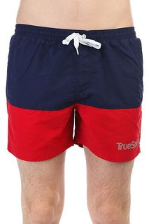 Шорты пляжные TrueSpin Basics Swim Shorts Navy/Red