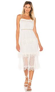 Платье с круглой юбкой meridian - Zimmermann