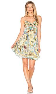 Мини платье на завязке спереди - Camilla