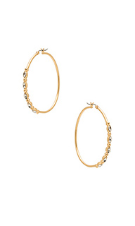 Large hoops with five stone detail - Rebecca Minkoff