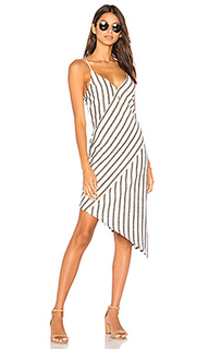 Stripe linen asymmetrical slip dress - MINKPINK