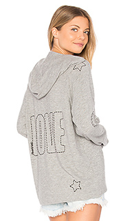 Cali lace up front hoodie - Lauren Moshi