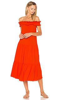 Платье с открытыми плечами и складками - Raquel Allegra