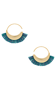Thread fringe small hoops - Rebecca Minkoff
