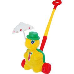 """Черепашка-каталка """"Тортила с ручкой"""", желтый, Полесье"""