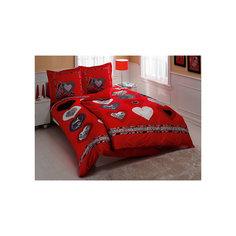 Постельное белье семейный Lust Love, Satin, TAC, красный