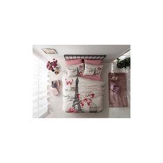 Постельное белье семейный Giselle, Ranforce, TAC, розовый
