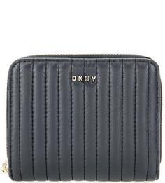 Стеганый кошелек из натуральной кожи Dkny